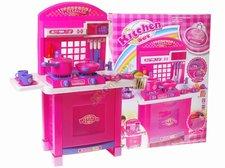 Dětská kuchyňka s příslušenstvím růžová
