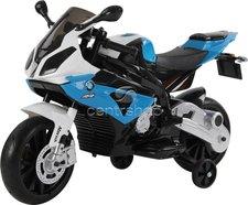 Dimix Elektrická motorka BMW S 1000 RR 12V modrá, EVA kola