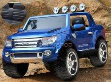 Dimix Elektrické autíčko Ford Ranger Wildtrak modré LAKOVANÉ 2 motory, R/C 2,4GHz, EVA kola, kůže