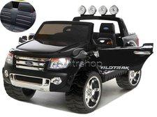 Dimix Elektrické autíčko Ford Ranger Wildtrak černé LAKOVANÉ 2 motory, R/C 2,4GHz, EVA kola, kůže