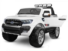 Dimix Elektrické autíčko Ford Ranger 4x4 bílé, 4 motory, R/C 2,4GHz, EVA kola, kůže