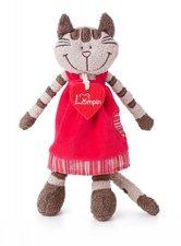 Lumpin Kočička Angelique v jahodových šatech malá 23 cm
