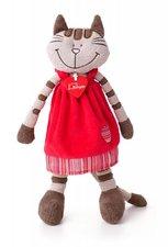 Lumpin Kočička Angelique v jahodových šatech střední 36 cm