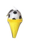 Kužele s fotbalovým míčem