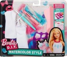Mattel Panenka Barbie D.I.Y. Akvarelové bílo-růžové návrhářství
