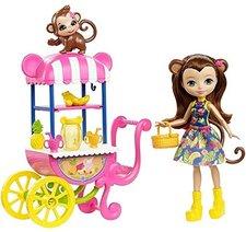 Mattel Enchantimals Herní set na kolech Merit Opičková
