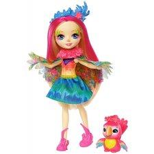 Mattel ENCHANTIMALS Panenka se zvířátkem Peeki Parrot a Sheeny