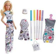 Mattel Barbie D.I.Y. Crayola vybarvování šatů blondýnka