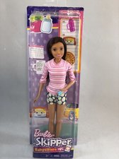 Barbie Chůva brunetka v růžovém svetru