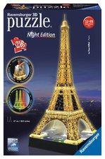 Puzzle Eiffelova věž 3D - Noční edice 216  dílků