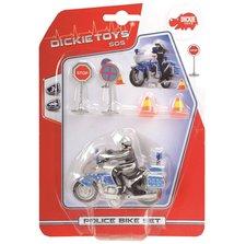 Policejní motocykl 10 cm s přísl.