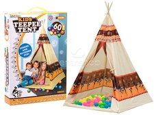 Dimix Indiánský stan teepee + 60 míčků