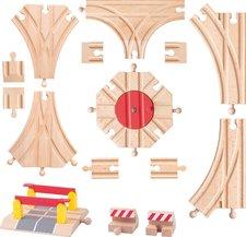 Woody Příslušenství k dráze - Rozšířený set kolejí: výhybky, koncovky, točna