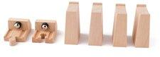 Woody Příslušenství k dráze - Rozšířený set kolejí: zarážky s magnetem, bloky