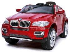 Dimix Elektrické autíčko BMW X6 Luxury LAK červené, 2 motory, R/C 2,4GHz, EVA kola