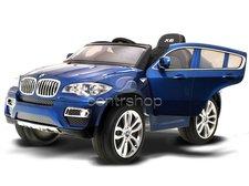 Beneo Elektrické autíčko BMW X6 Luxury LAK modré, 2 motory, ovládací panel, R/C 2,4GHz, EVA kola