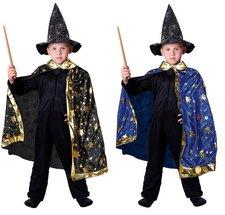 Karnevalový kouzelnický plášť s hvězdami 2 druhy