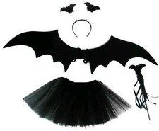 Karnevalový kostým - netopýří holčička 4 ks