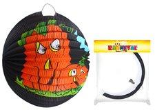 RAPPA Lampion koule 25cm tmavý s dýní Halloween