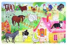 Rappa Puzzle dřevěné zvířata domácí