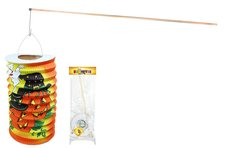 RAPPA Lampion HALLOWEEN s dřevenou hůlkou, 15 cm