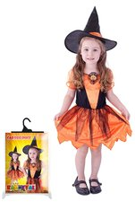 Karnevalový kostým Čarodějnice/halloween dýňová, vel. XS