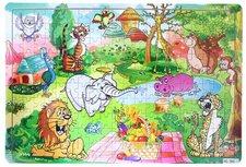 Rappa Puzzle dřevěné zvířata ZOO