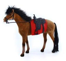 Rappa Kůň fliska 32 cm hnědo černý