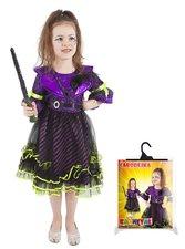 Karnevalový kostým Čarodějnice/halloween fialová vel. S