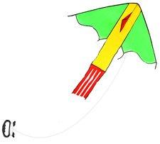 Rappa Drak létající nylonový, 118 x 98 cm