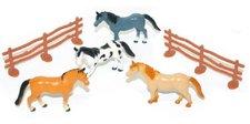 Rappa Koně s ohradou, 4 ks v sáčku