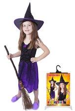 RAPPA Karnevalový kostým čarodějnice/halloween s kloboukem, vel. S