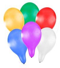 RAPPA Balónek nafukovací 27 cm metalický 6 ks v sáčku