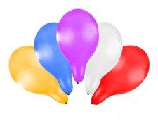 RAPPA Balónek nafukovací 30 cm metalický 5 ks v sáčku