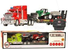 RC Kamion s bagrem - červený