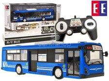 Autobus na dálkové ovládání modrý