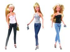 Panenka Steffi jeans fashion, 3 druhy