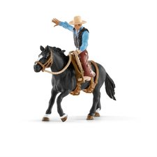 Schleich Osedlaný kůň s kovbojem