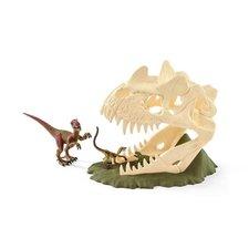Schleich Velká lebka s Velociraptorem a ještěrem