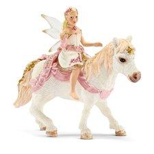 Schleich Křehká elfí víla jedoucí na poníkovi
