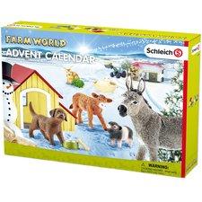 Schleich 97448  Adventní kalendář 2017 - Domácí zvířata