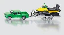 SIKU Super - Auto s tahačem a sněžním skůtrem
