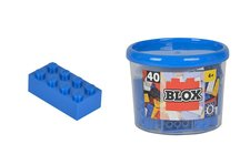 Simba Blox 40 Kostičky modré v boxu
