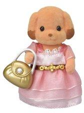 Sylvanian Families Město - pudlice v růžových šatech s kabelkou