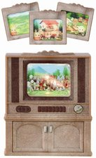 Sylvanian Families Nábytek - skříňka s barevnou televizí