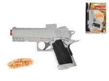 Mikro Trading Pistole na kuličky plast 18cm s kuličkami na kartě