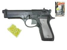 Mikro Trading Pistole na kuličky plast 22cm s kuličkami na kartě
