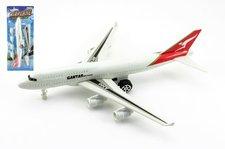 Teddies Letadlo plast na zpětné natažení 30cm na kartě
