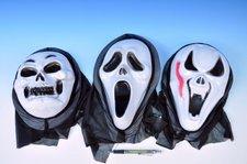 Maska karneval plast asst 3 druhy