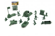 Teddies Sada vojáci s doplňky plast v sáčku 15x20cm